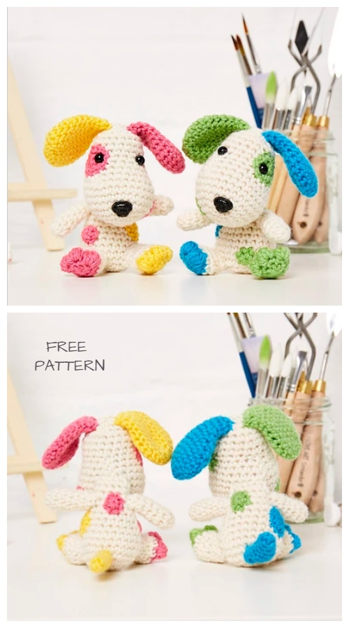 Crochet Pip and Patch Puppy Amigurumi Free Pattern