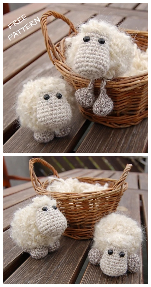 Crochet Sheep Keychain Anigurumi Free Patterns