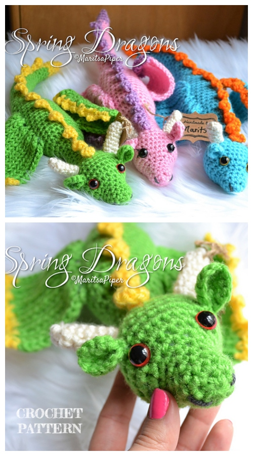 Crochet Spring Dragons Amigurumi Pattern
