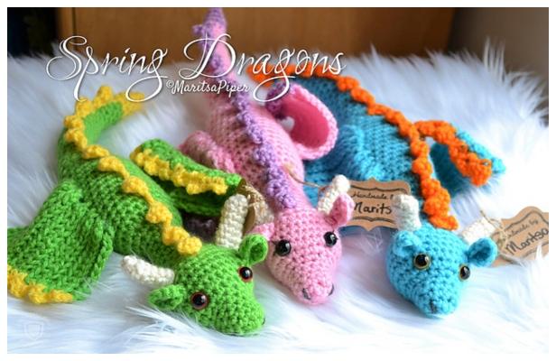 Lars the Dragon amigurumi pattern | Crochet toy pattern | lilleliis | 400x616