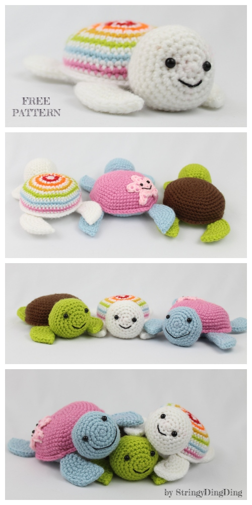 Crochet Spring Turtle Anigurumi Free Patterns