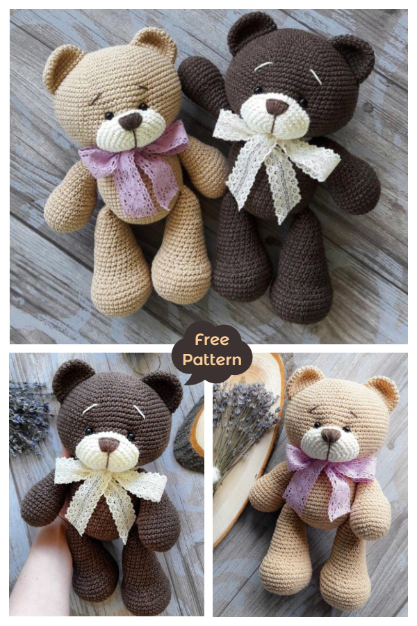 Crochet Teddy Bear Amigurumi Free Patterns