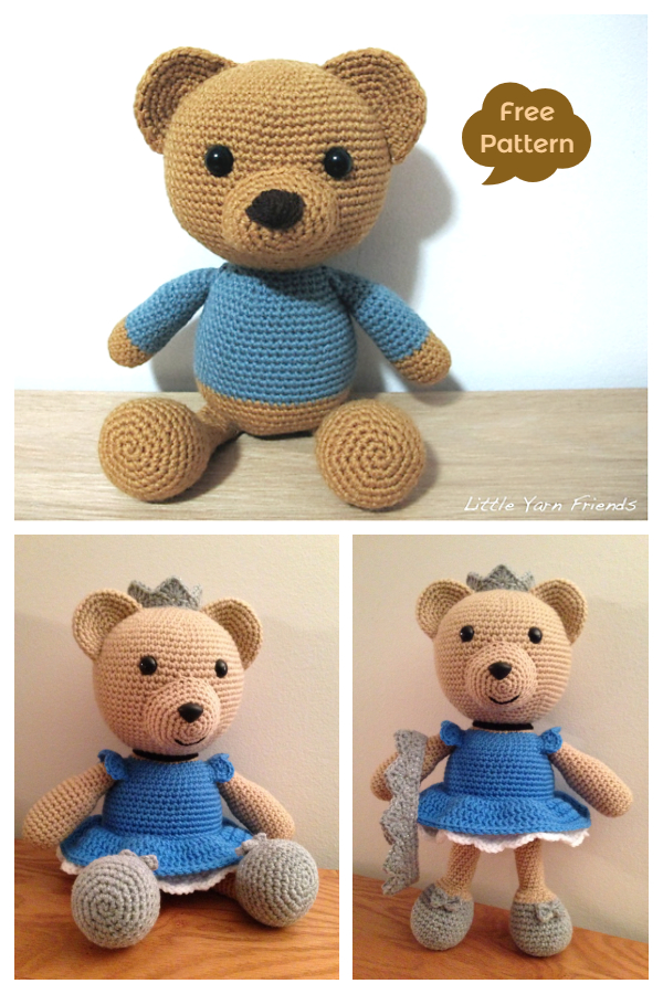 Crochet Lil Classic Teddy Bear Amigurumi Free Patterns