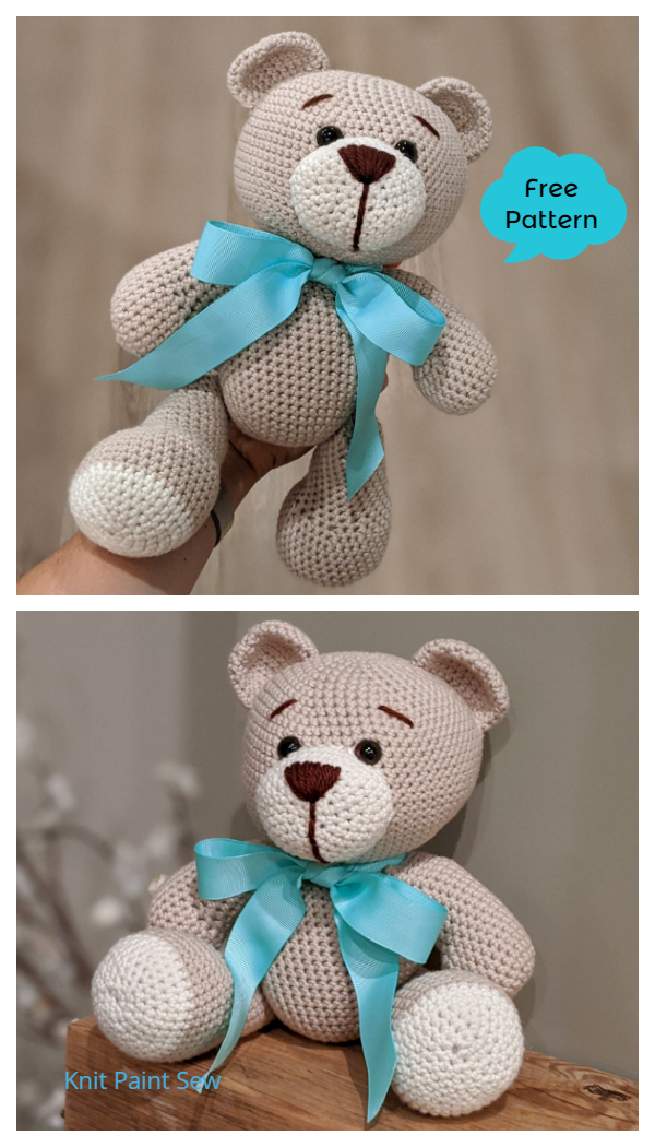 Classic Crochet Teddy Bear Amigurumi Free Patterns