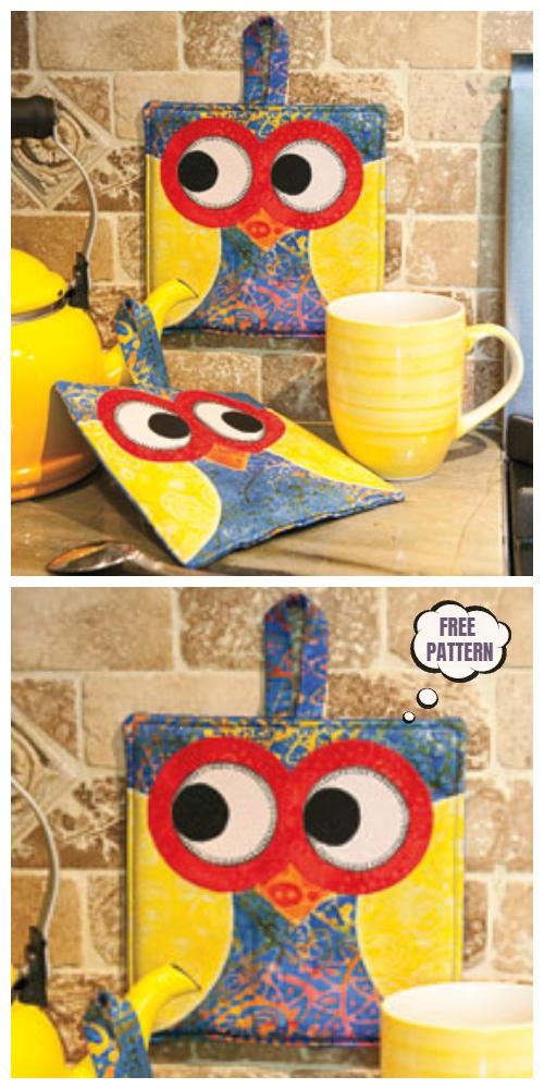 DIY Owl Potholder Free Sewing Patterns + Video