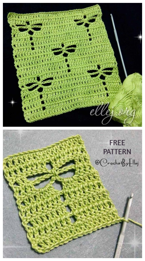 Dragonfly Stitch Free Crochet Free Pattern