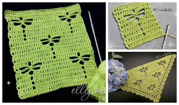 Dragonfly Stitch Free Crochet Patterns