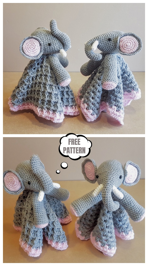 Ella The Elephant Baby Lovey Free Crochet Pattern