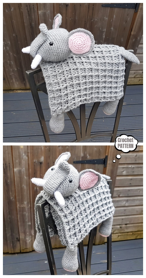 3 in 1 Safari Elephant Blanket Crochet Pattern
