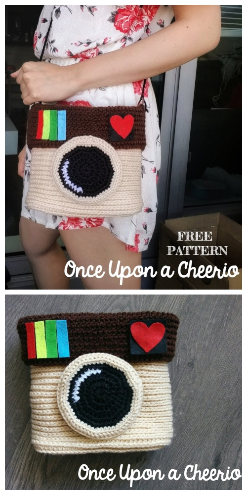 Crochet Instagram Camera Bag Free Crochet Patterns