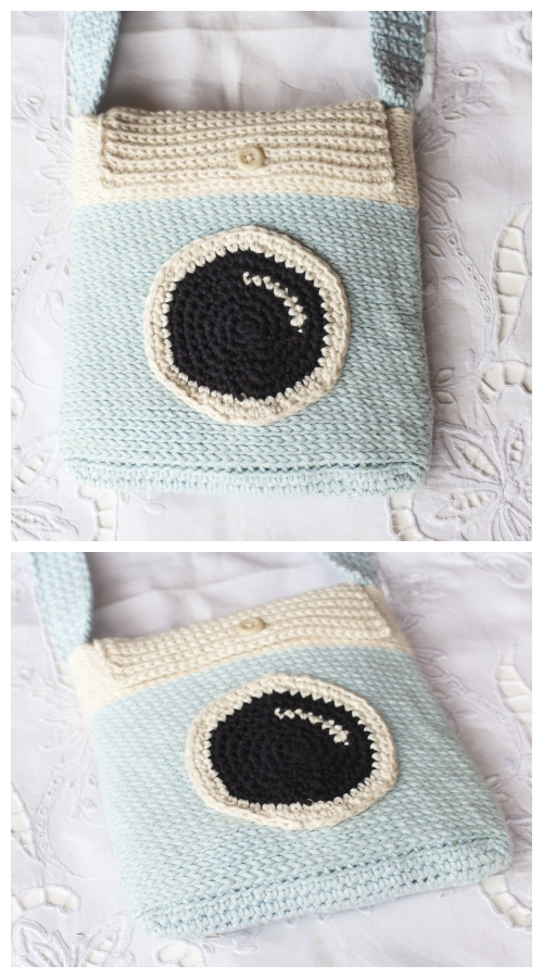 Crochet Instagram Camera Satchel Bag Free Crochet Patterns