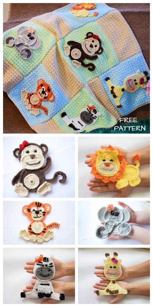 Jungle friends Blanket Free Crochet Patterns