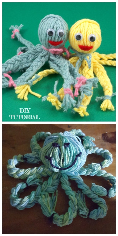 Kids Craft: Fun Yarn Octopus Doll DIY Tutorial + Video