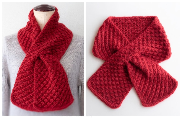 Knit Star Stitch Cherry Pie Scarf Free Knitting Patternng Pattern