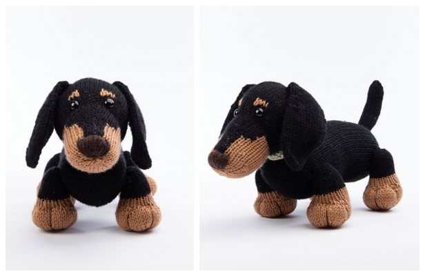 134 Crochet Pattern Dog Dachshund Genreh - Amigurumi PDF file by ... | 400x616