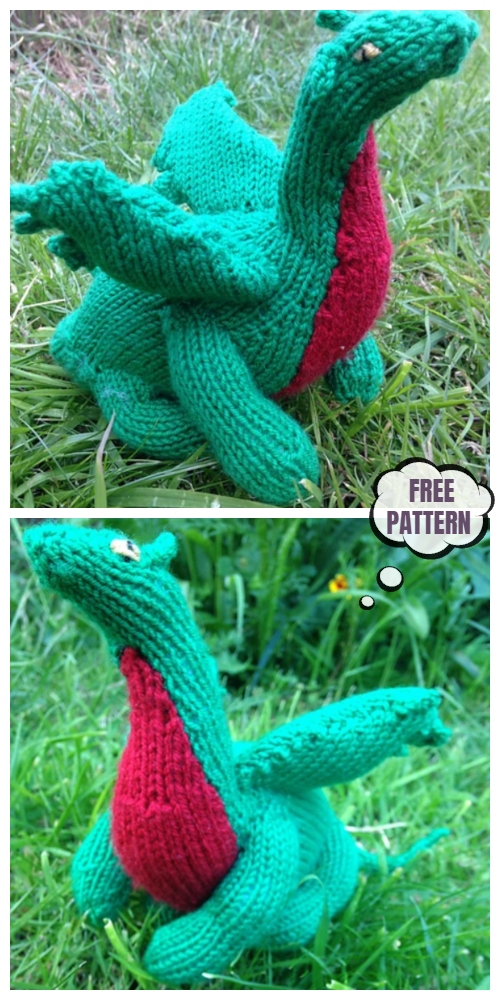 "Knit ""Snap"" the Norwich Dragon Toy Free Knitting Patterns"