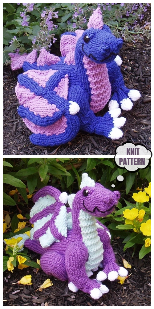 Knit Dragon Toy Knitting Patterns
