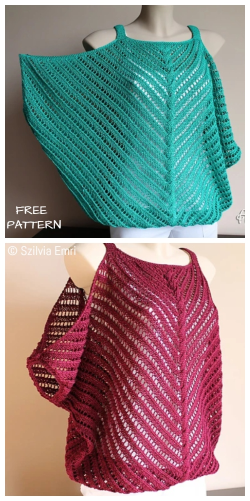 Knit Sleeveless Flirt Top Free Knitting Pattern