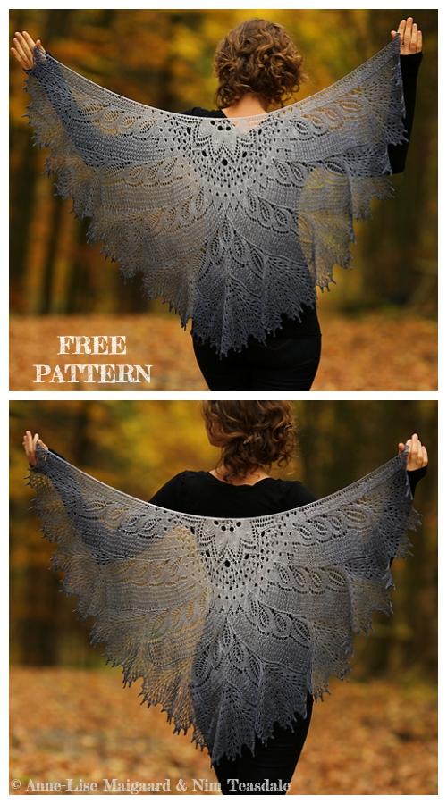 Knit Wild Swan Lace Shawl Free Knitting Pattern