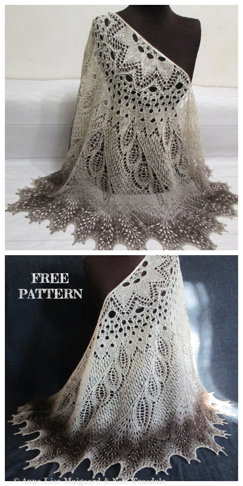 Knit Wild Swan Lace Shawl Free Knitting Pattern