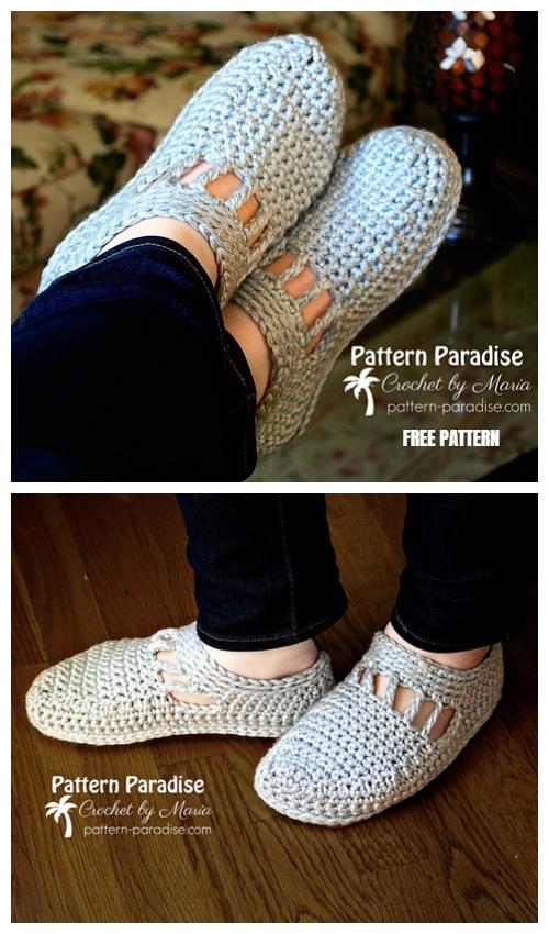 Unisex Mae Slippers Free Crochet Pattern