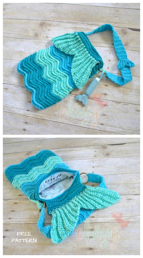 Crochet Mermaid Ripple Purse Free Crochet Pattern