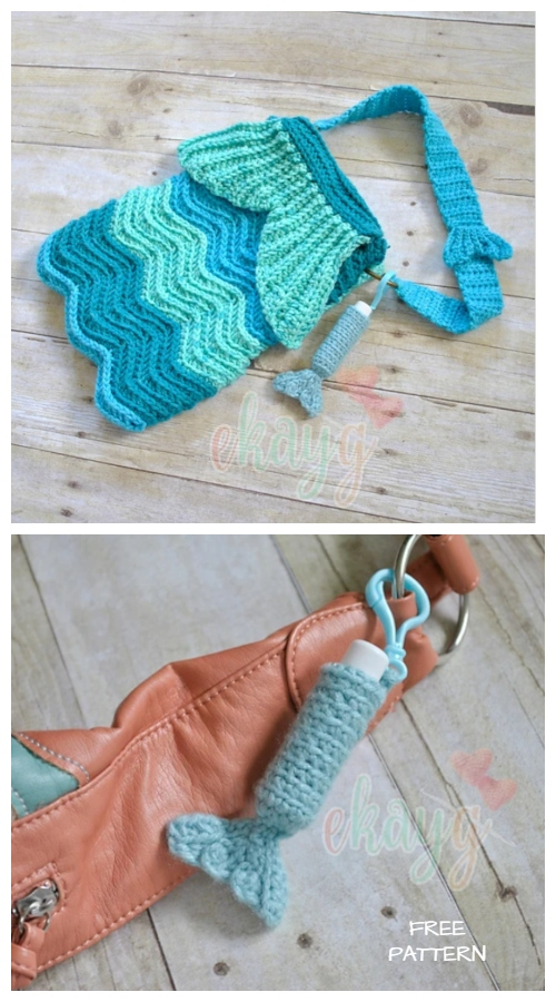 Crochet Mermaid Tail LipStick Holder Free Crochet Pattern