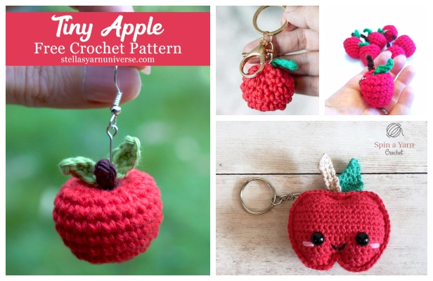 Crochet Keychain - 15 Free Crochet Patterns ⋆ DIY Crafts | 400x616