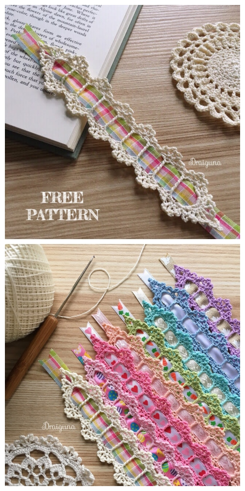 Ribbon Celebration Bookmark Free Crochet Patterns