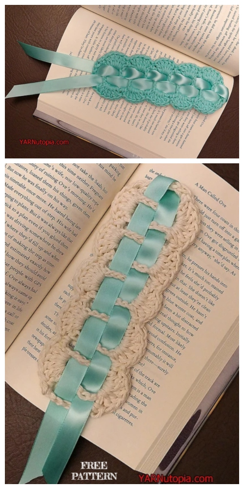 Ribbon Lace Bookmark Free Crochet Patterns