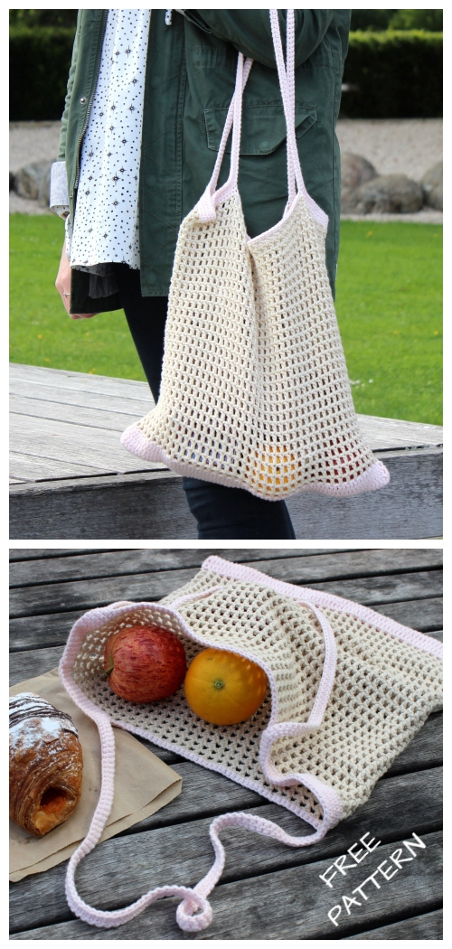 Spring Market Tote Bag Free Crochet Patterns
