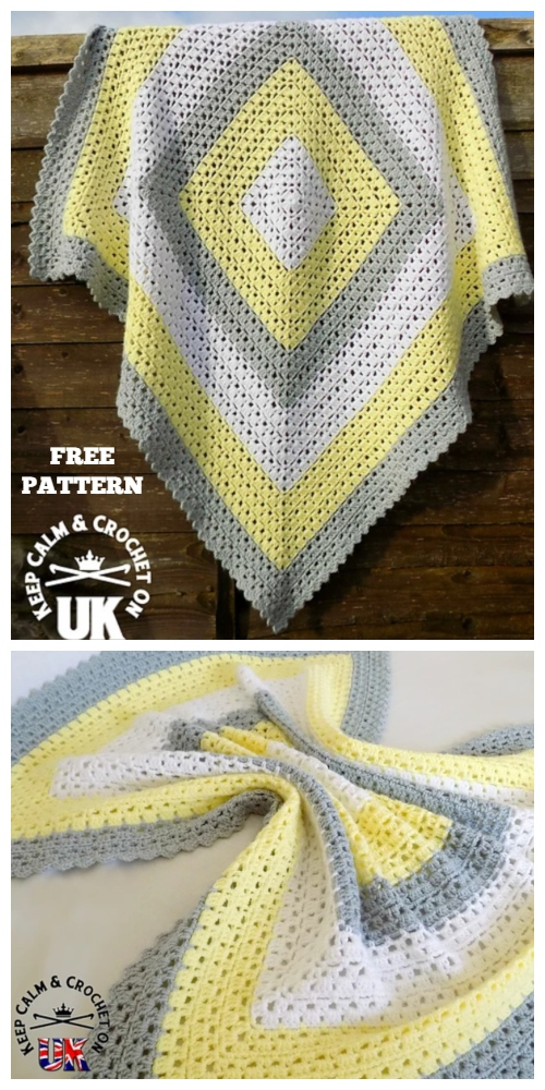 Superbly Simple Baby Blanket Free Crochet Pattern