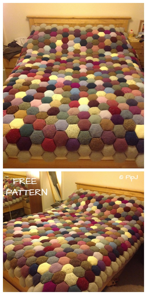 Crochet The Apiary Puff Blanket Free Crochet Pattern