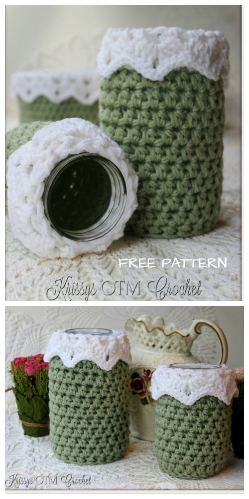 Crochet Victorian Jar Cover Free Crochet Pattern