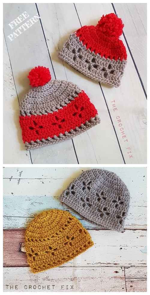 Vintage Vibes Baby Beanie Hat Free Crochet Patterns