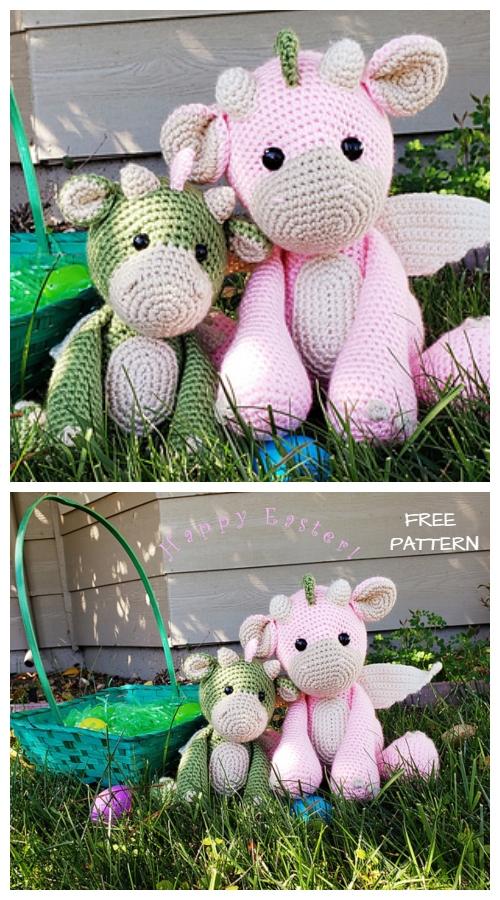 Crochet Small Dragon Amigurumi Free Pattern