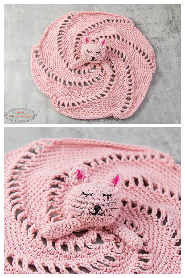 Spiral Kitty Lovey Free Crochet Pattern