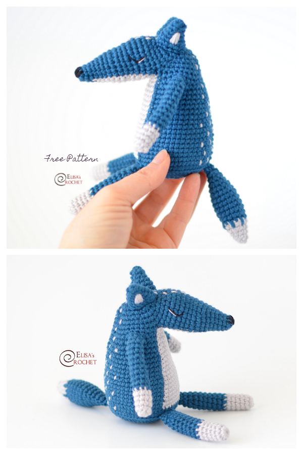 Crochet Duke the Wolf Amigurumi Free Patterns