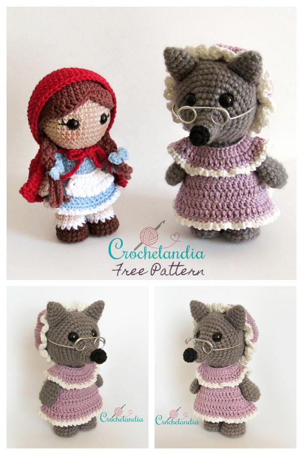 Crochet Big Bad Wolf Amigurumi Free Patterns