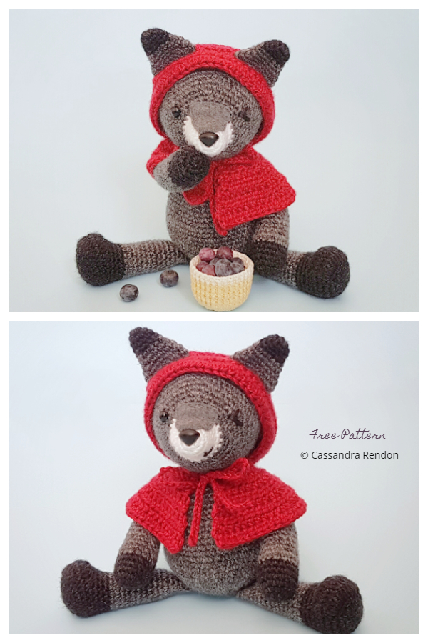 Crochet Wiley Willa the Wolf Amigurumi Free Patterns
