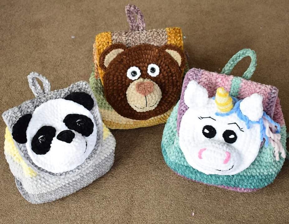 Velvet Unicorn Backpack Free Crochet Pattern