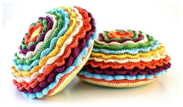 Blooming Flower Cushion Free Crochet Patterns + Video