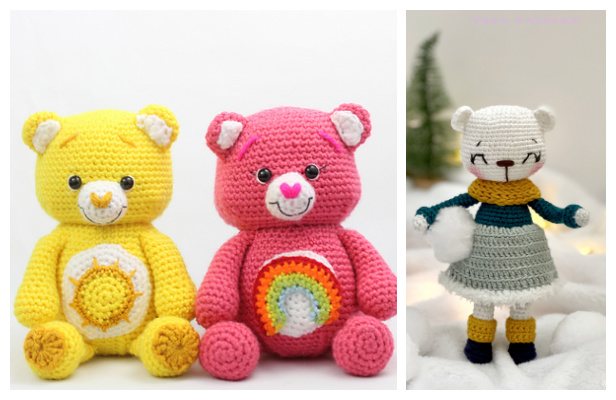 Crochet Happy Bears Amigurumi Free Patterns