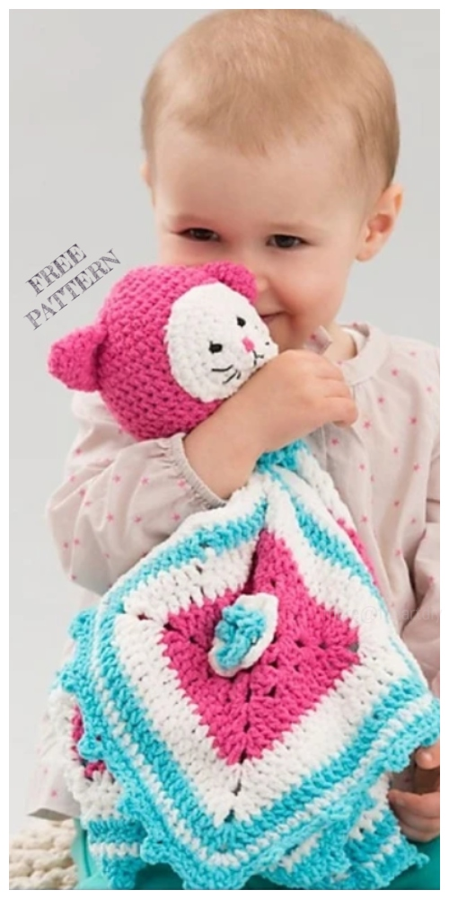 Amigurumi Kitty Love Blankie Free Crochet Patterns