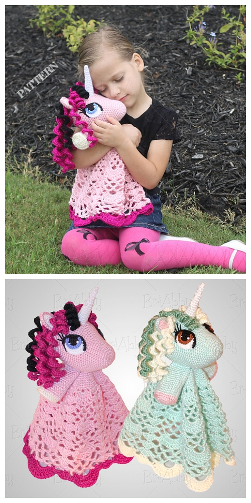 Amigurumi Unicorn Security Blanket  Crochet Patterns