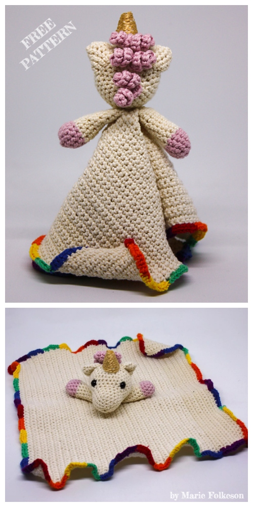 Amigurumi Bella the Unicorn Blanket Free Crochet Patterns