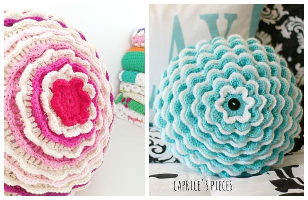 Crochet Blooming Flower Cushion Free Crochet Pattern + Video