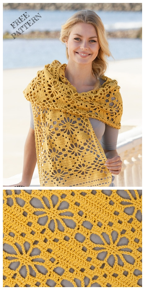 Crochet Butterfly Migration Wrap Free Crochet Patterns