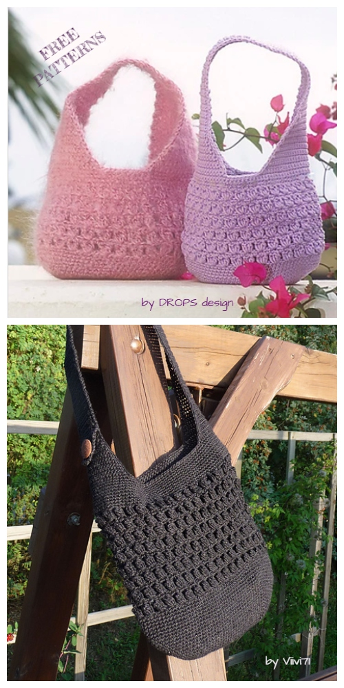 Crochet Cluster Stitch Shoulder Bag Free Crochet Pattern