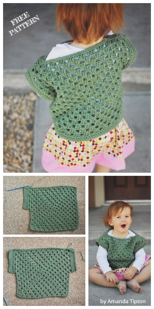 Crochet Baby Granny Square Top Free Crochet Pattern
